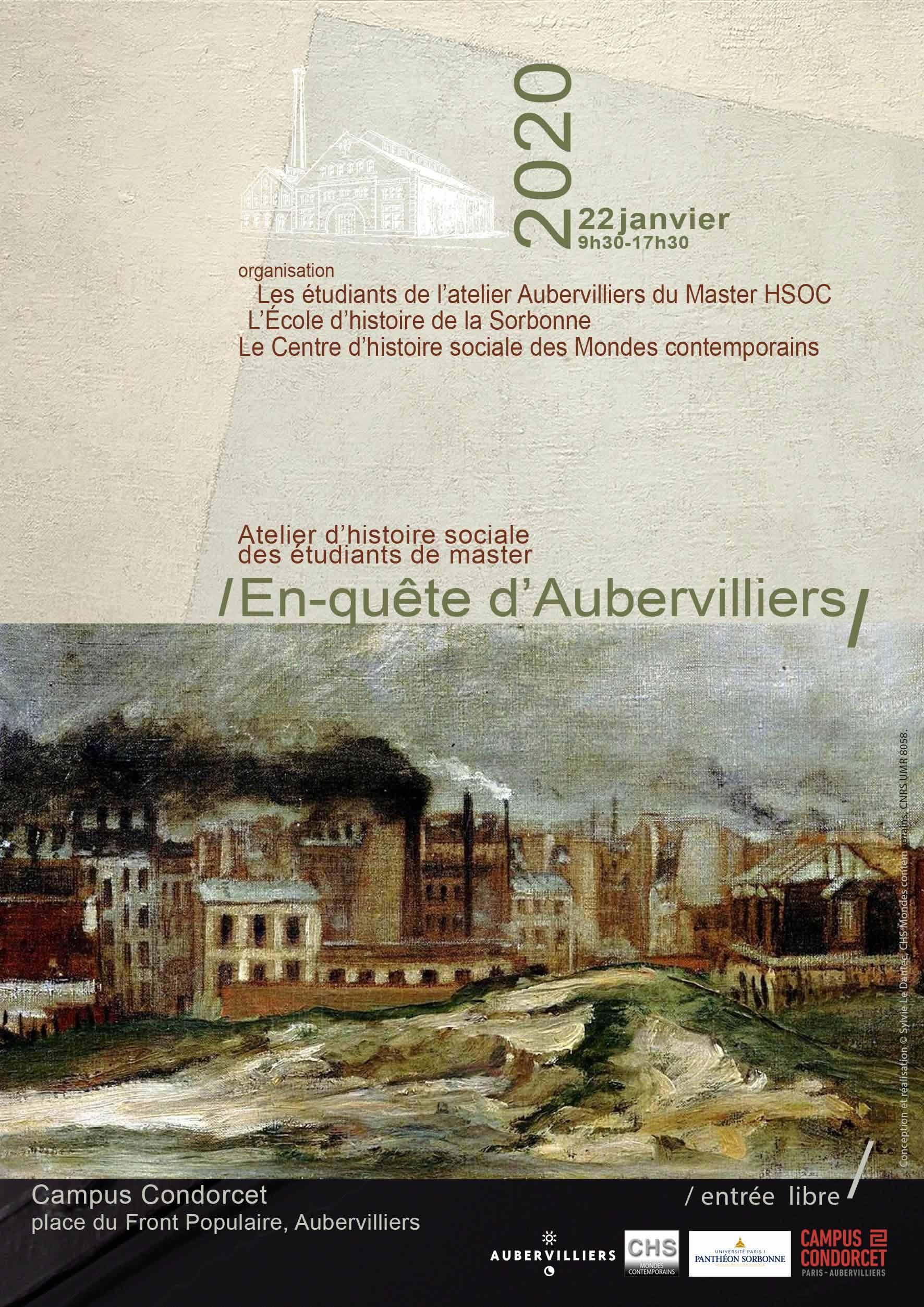 En-quête d'Aubervilliers atelier d'histoire sociale du master HSOC