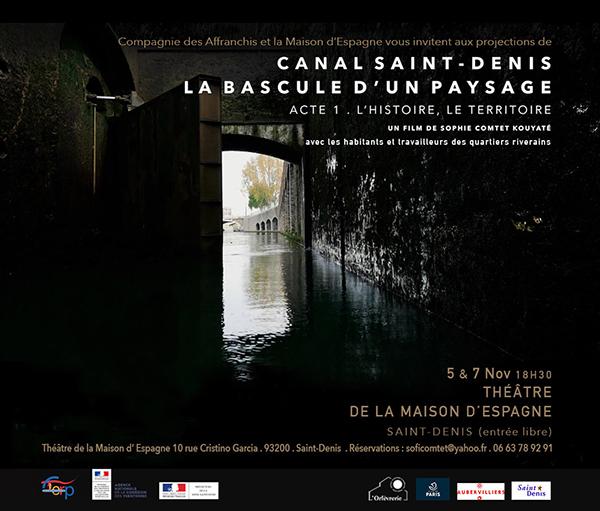 """Affiche film """"Canal Saint-Denis, la bascule d'un paysage"""""""