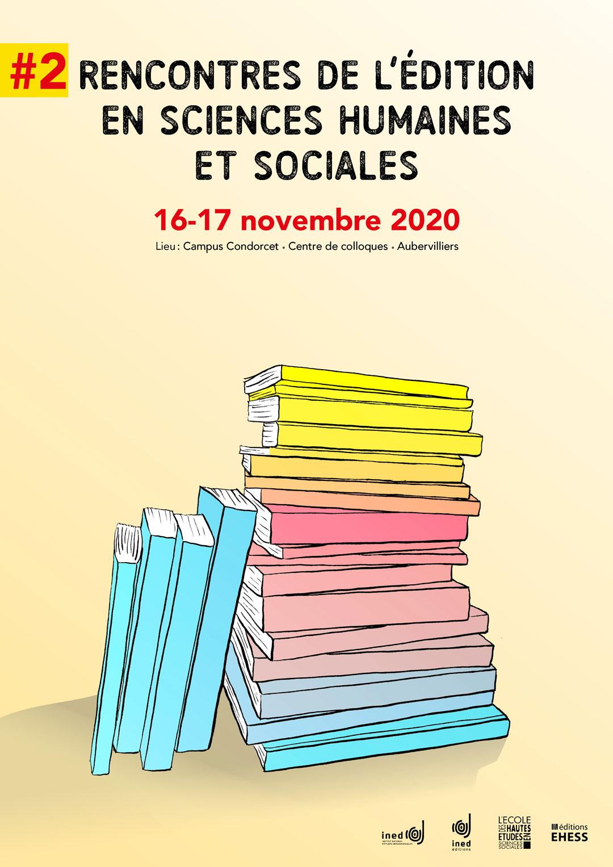 Affiche des Rencontres de l'édition en sciences humaines et sociales