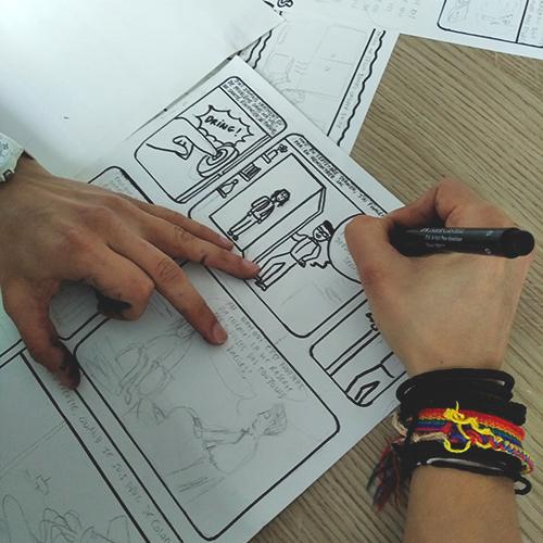 Atelier BD au sein de l'IHEAL