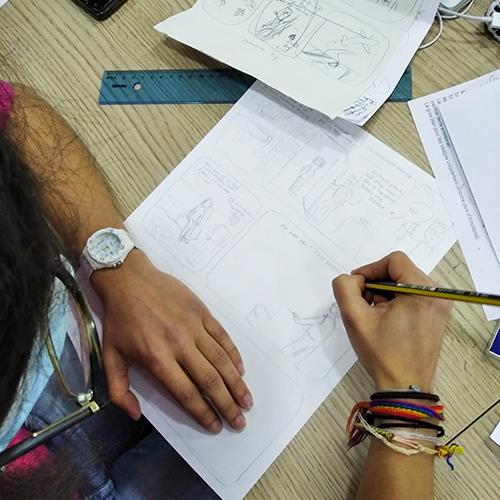Atelier BD au Centre social Henri Roser
