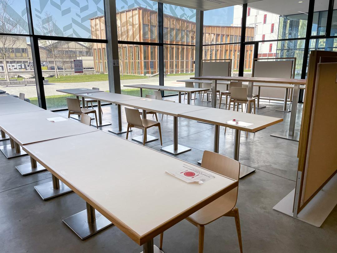 Salle à manger et de coworking du restaurant Crous Condorcet