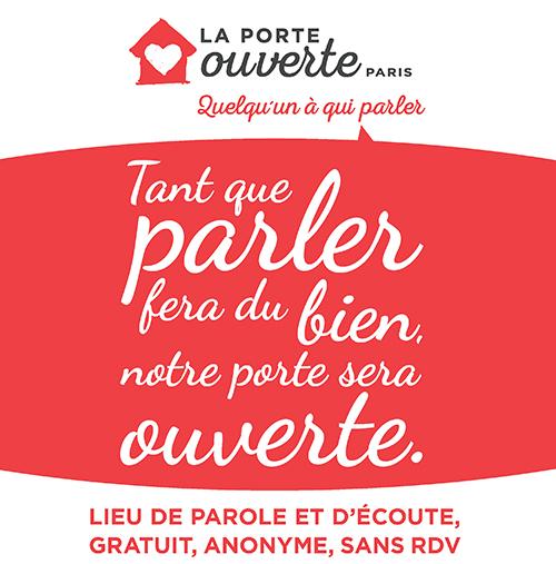 Affiche de l'association La Porte Ouverte