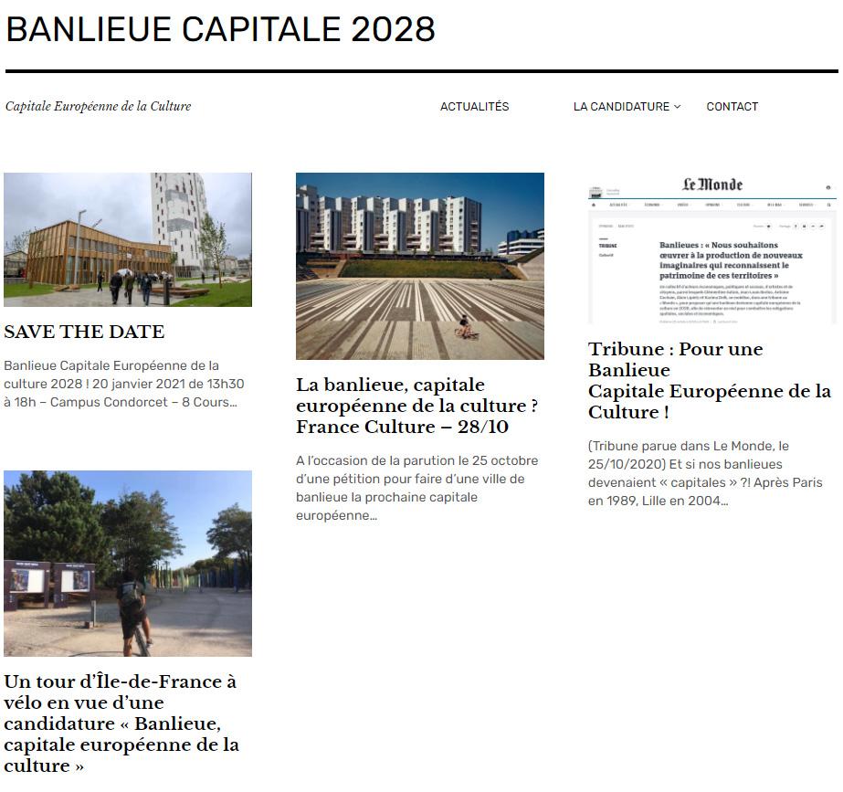 Villes de banlieue capitale européenne de la culture