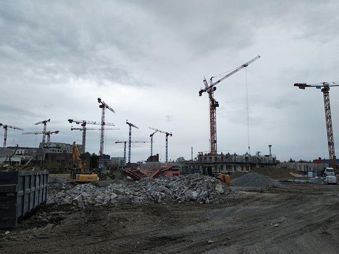 Photo de chantiers dans le quartier de La Plaine