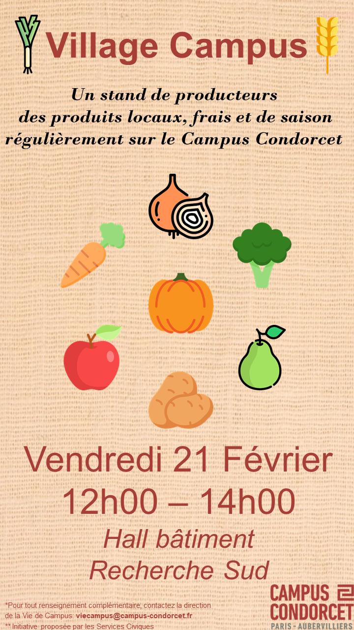 Affiche de Village Campus - Un stand de producteurs Au Bout Du Champ